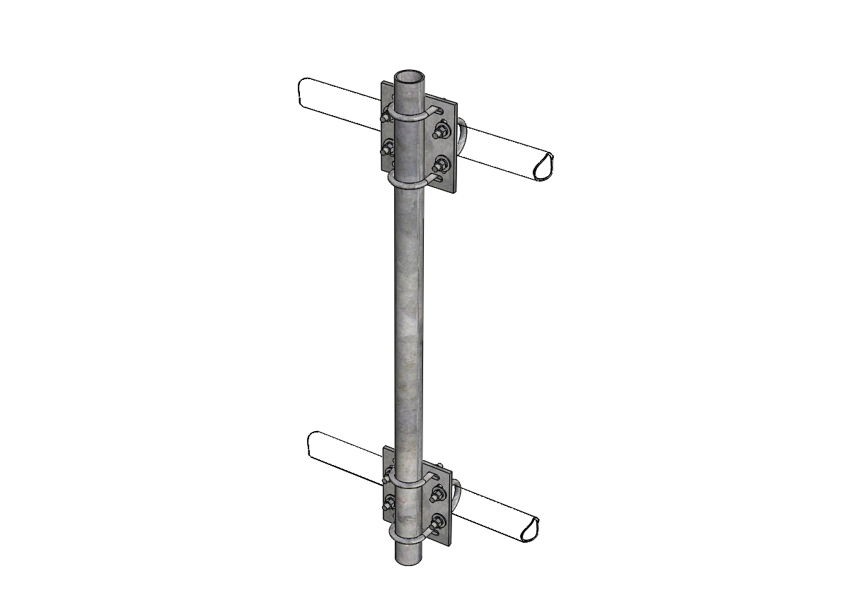 Tower Frame Pipe Mount Kits   Pro Tower Manufacturing