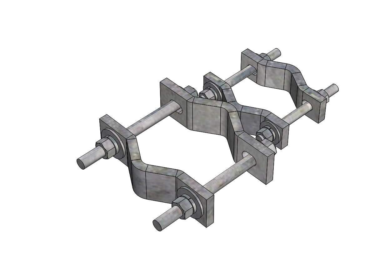 Pipe saddle clamp kits pro tower manufacturing