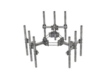 Monopole T-Arm Kit with Support Arms for a Radio or Cell Tower.