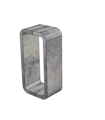Weld-in access port for coaxial cable.