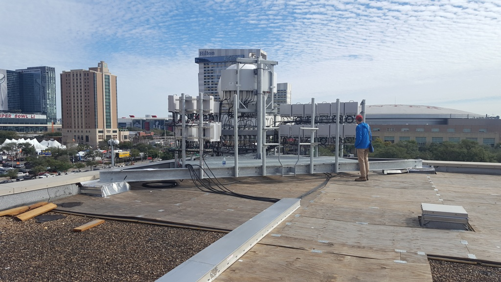 Rooftop Antennas, Toyota Center in Houston